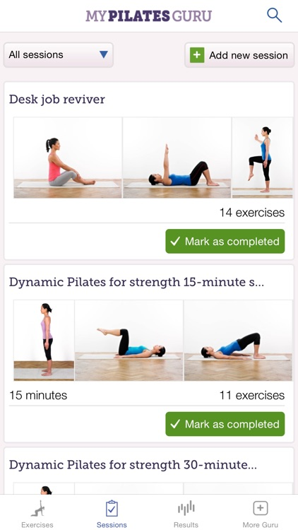 My Pilates Guru: Pilates exercises for fitness, well-being and relaxation screenshot-3