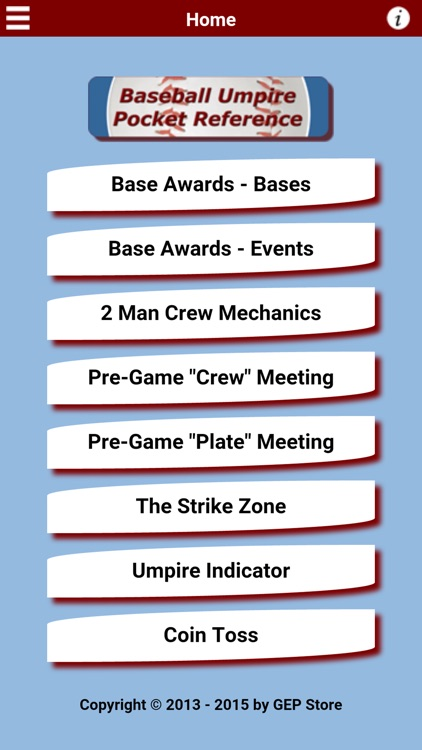 Baseball Umpire Pocket Reference screenshot-0