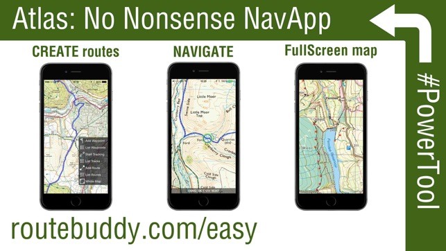 RouteBuddy Atlas GPS Nav App For US And Worldwide Topo Maps On The - Topo maps app for iphone