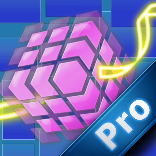 A Neon Bouncy cube Pro icon
