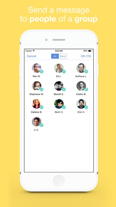 Connect - Contact Manager for iPhone screenshot
