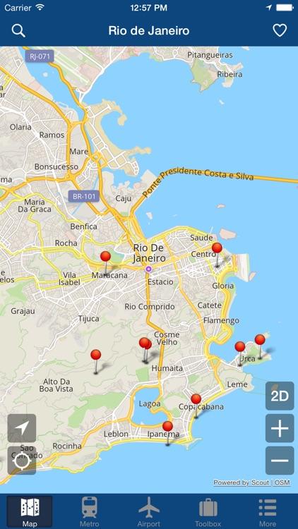 Rio De Janeiro Offline Map City Metro Airport by Green Lake