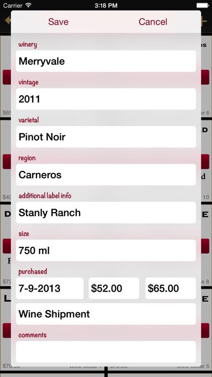 Bottles - Wine Cellar Manager screenshot-4