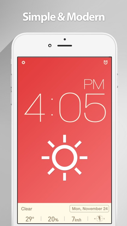 Red Clock FREE Edition - The Minimal Alarm Clock screenshot-0