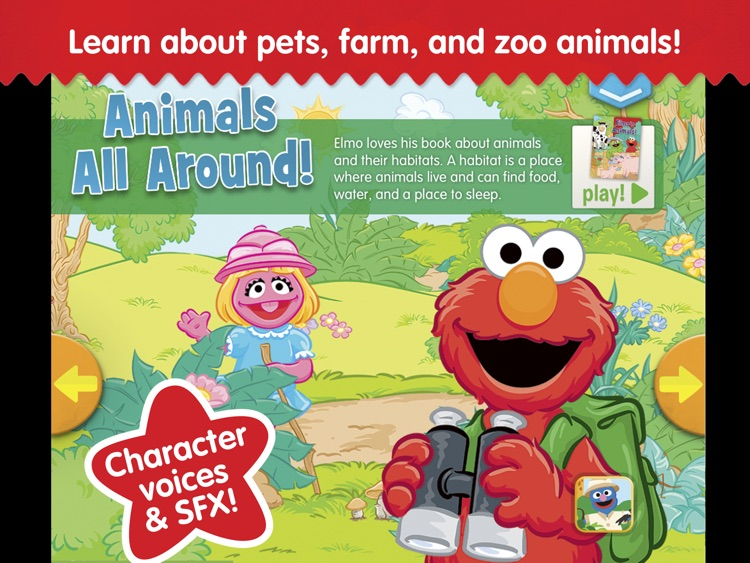 Elmo's Animals: A Sesame Street S'More App screenshot-0