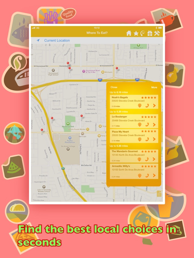 Where To Eat? PRO - Find restaurants using GPS. Screenshot