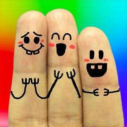 酷玩手指 (中文版) - 指头画涂鸦相机, 可爱趣怪手指表情器