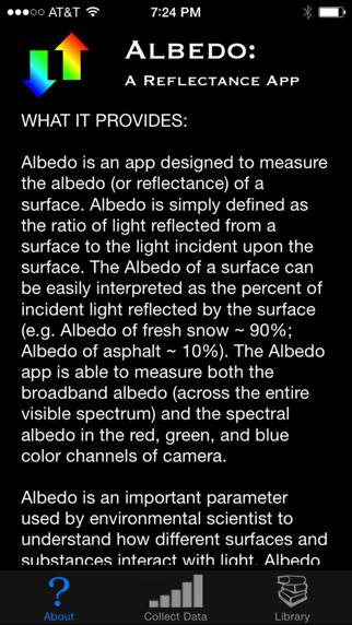 Albedo: A Reflectance App screenshot one