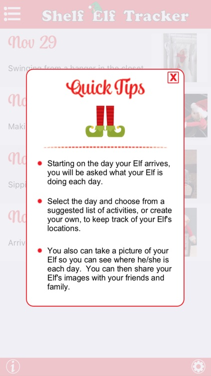 Shelf Elf Tracker - Where's that Elf? - Daily Reminder and Ideas for your Scout Elf's Location screenshot-3