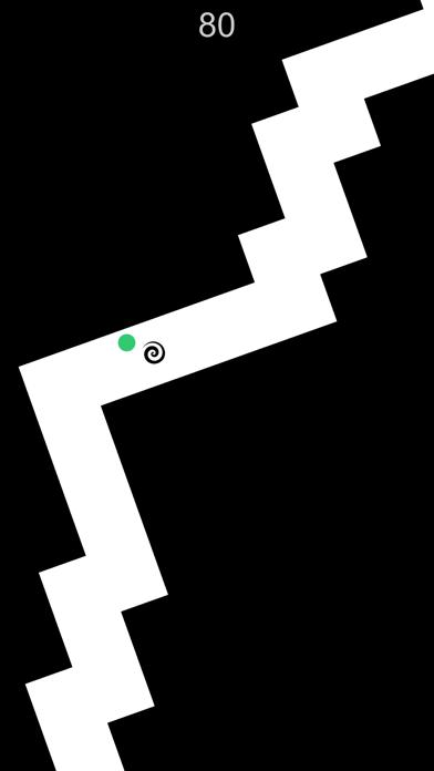 Zig Turn Race green point ziggy dash action game online screenshot two