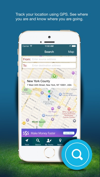 GPS Route Tracker - Find Near By Places