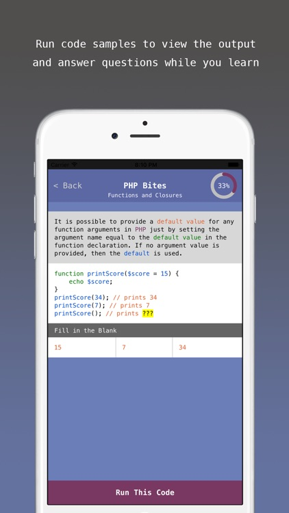 PHP Bites - Learn How to Code in PHP with Interactive Mini Lessons screenshot-3