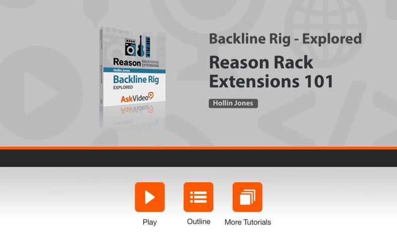 Backline Rig Explored - Reason скриншот программы 1