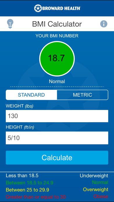BH BMI screenshot two