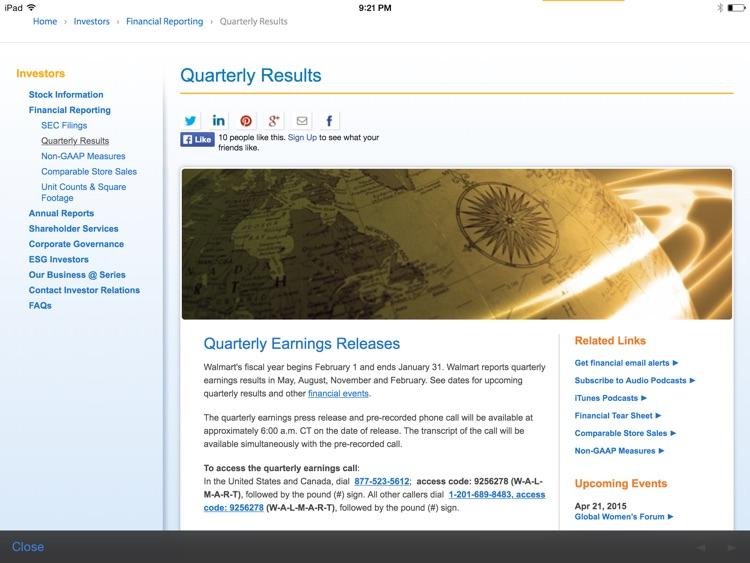 Walmart Investor Relations screenshot-4