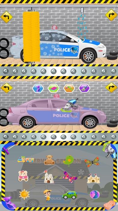 Police Car Wash Salon Cleaning & Washing Simulator screenshot one