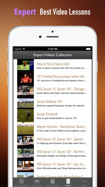 Soccer 101: Quick Learning Reference with Video Lessons and Glossary screenshot-4