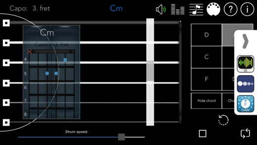GuitarCapo+ Screenshot