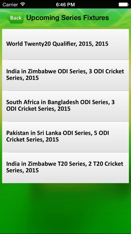 Cricket live score App