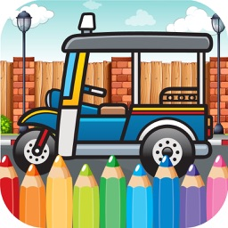 Car Coloring Painting And Drawing Game for Baby or Kid Doodle Picture