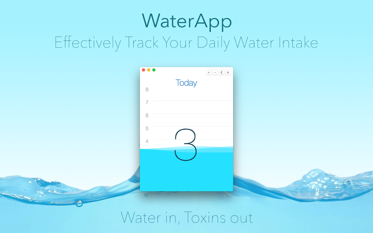 WaterApp - Water In, Toxins Out