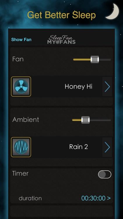 SleepFan: MyFans - Sleep Aid with Recorder screenshot-0