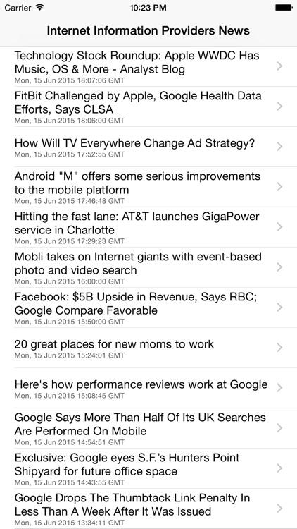 Internet Information Providers Industry News