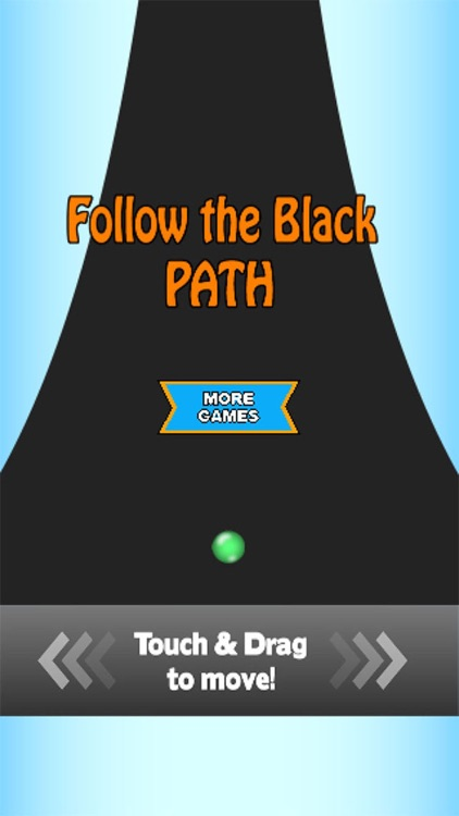 Follow the black path
