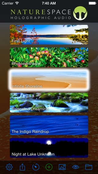 Naturespace - Relax Meditate Focus Sleep and Rest with 3D Sounds, sonic therapy for anxiety and stress relief Screenshot
