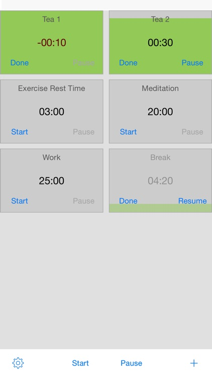 Timers - Run Multiple Simultaneous Timers