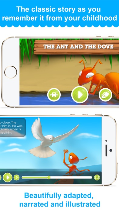 The Ant And The Dove - Narrated classic fairy tales and stories for childrenScreenshot of 1