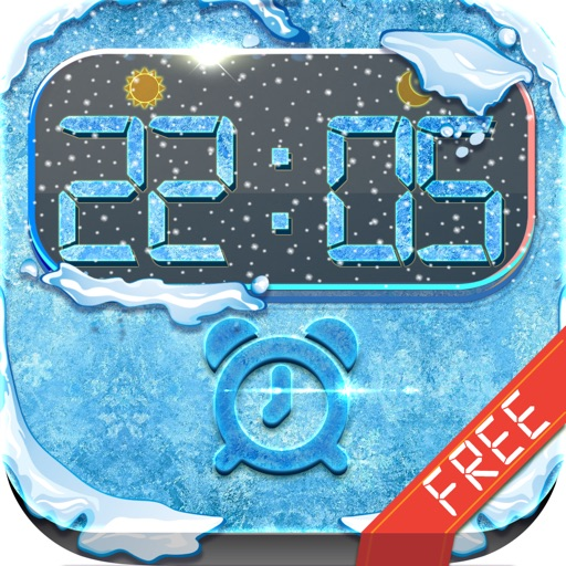 iClock – Frozen & Winter : Alarm Clock Wallpapers , Frames and Quotes Maker For Free