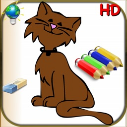 Coloring book for children and babies for iPhone and iPod- 56 Easy Colorings for kids with animals, clowns and more