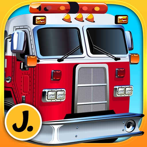 Fire Engines and other Trucks - puzzle game for little boys and preschool kids