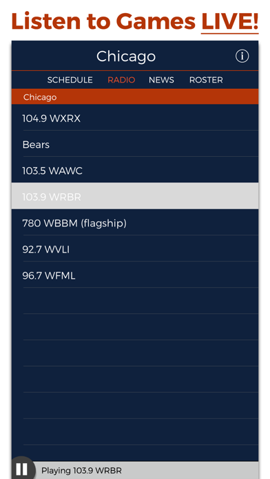 Chicago Football Radio & Live Scores screenshot one
