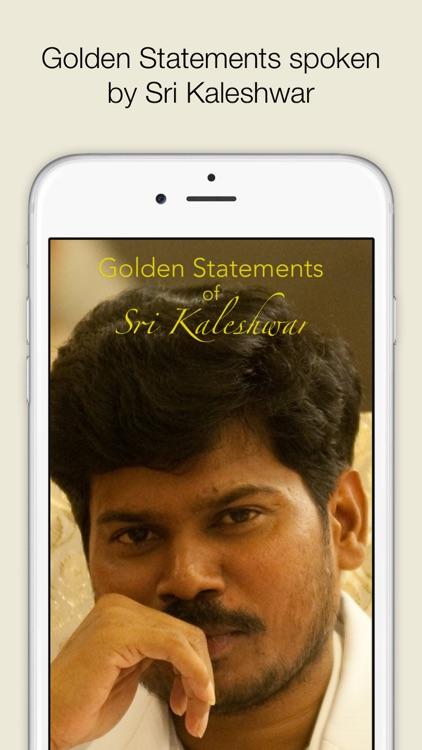 Golden Statements of Sri Kaleshwar