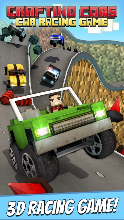 Crafting Cars . Free Hill Car Racing Game For Kids