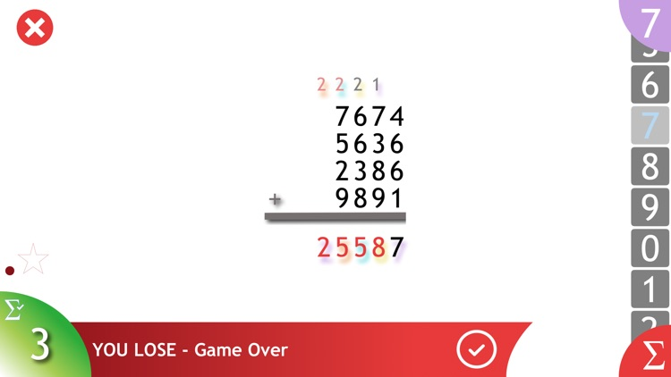 """""""Add"""" - play random sums or create your own challenging sums"""