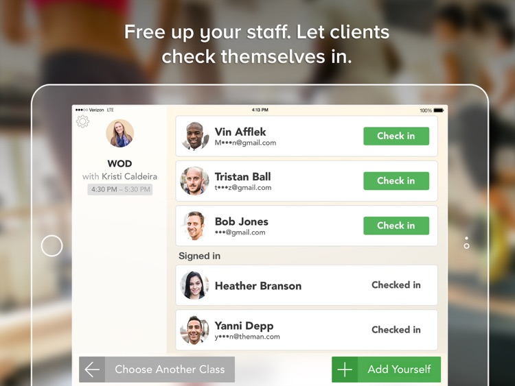 Class Check-in by MINDBODY screenshot-1