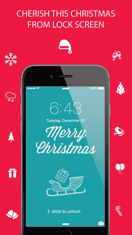 Christmas Wallpaper ® - Beautiful HD Xmas, santa claus, ornaments, design, themes, frames, shelves & backgrounds