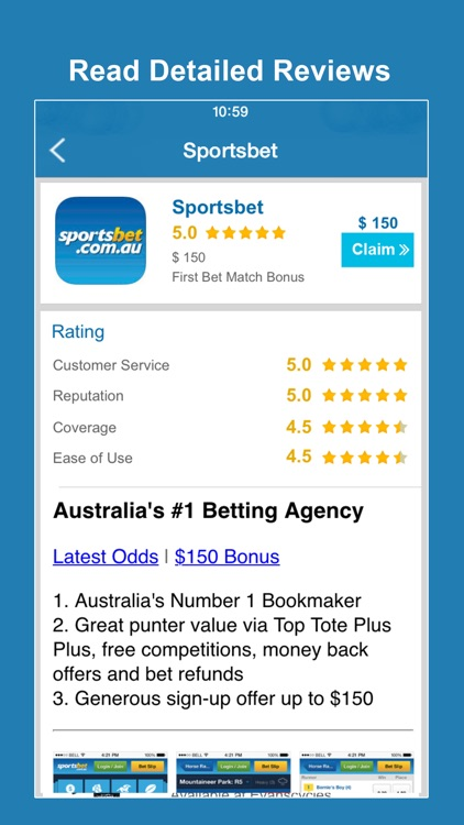 Free Bets Australia - Mobile betting app reviews & bookmaker