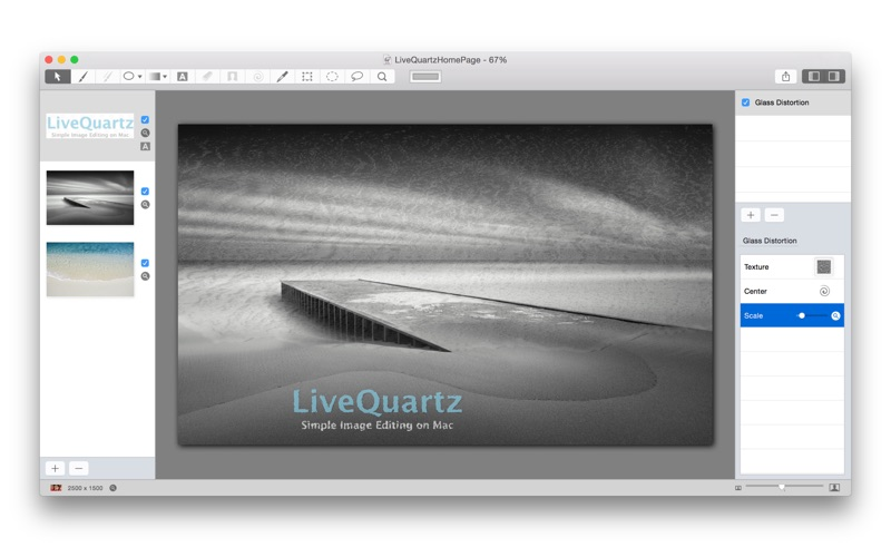 LiveQuartz Photo Edit Lite for Mac