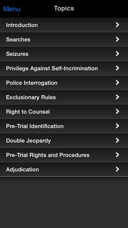 Criminal Procedure: Supreme Bar Review