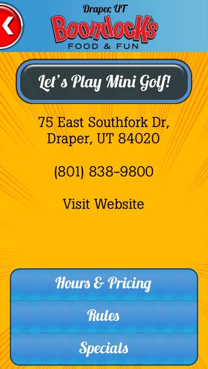 Boondocks Mini Golf Scorecard screenshot-3
