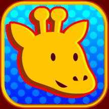 长颈鹿和大象的动物比赛的照片显示卡