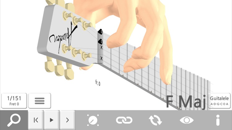 Awadon Chord 3D - Guitar, Ukulele and Guitalele 3D-Fingering Model screenshot-3
