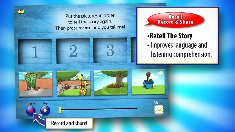 Oscar Goes to the Zoo with WordWinks and Retell, Record & Share screenshot-3