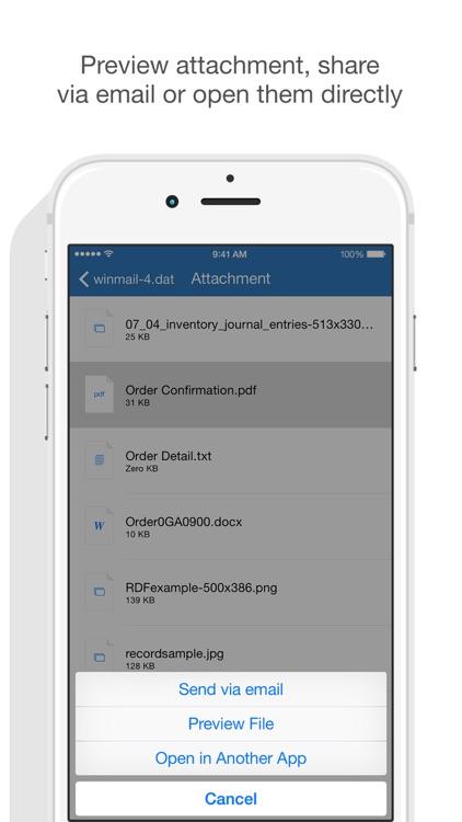 Winmail Opener screenshot-3