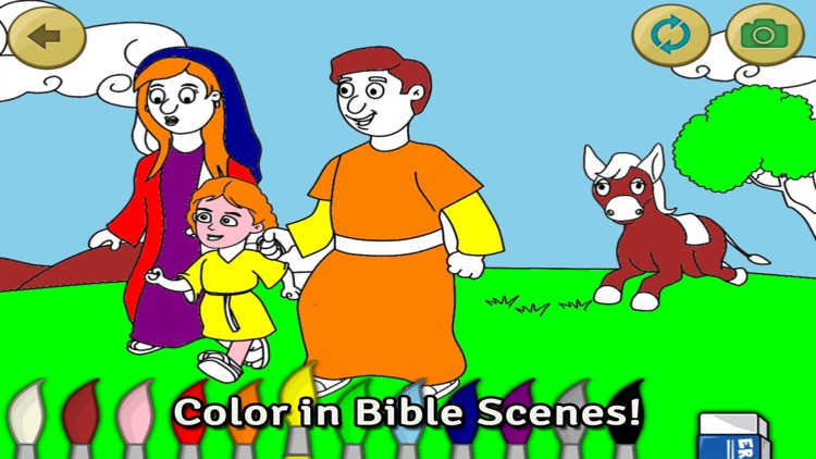 Life of Jesus: Baptism - Bible Story, Coloring, Singing, and Puzzles for Kids screenshot-3