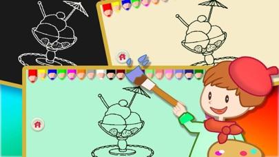 塗色繪本 9 - 寶寶 幼兒給冰淇淋塗色屏幕截圖4